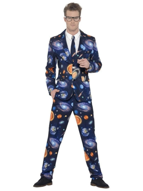 "38.5"" Navy Blue Space Stand Out Suit Men Adult Halloween Costume - XL - IMAGE 1"