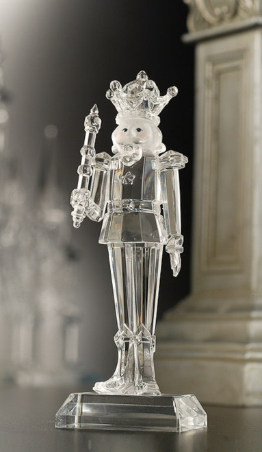 """Pack of 2 Icy Crystal Decorative Christmas Nutcracker King Figures 18"""" - IMAGE 1"""