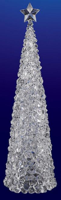 "33"" Clear Illuminated Christmas Ice Cube Tree Figurine - IMAGE 1"