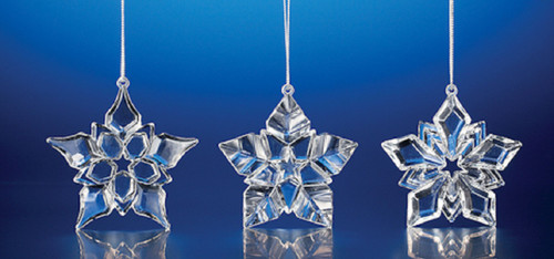 """Club Pack of 36 Clear Icy Crystal Decorative Christmas Star Ornaments 3"""" - IMAGE 1"""