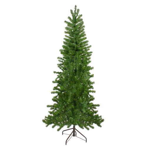 7.5' Canadian Pine Slim Artificial Christmas Wall Tree - Unlit - IMAGE 1