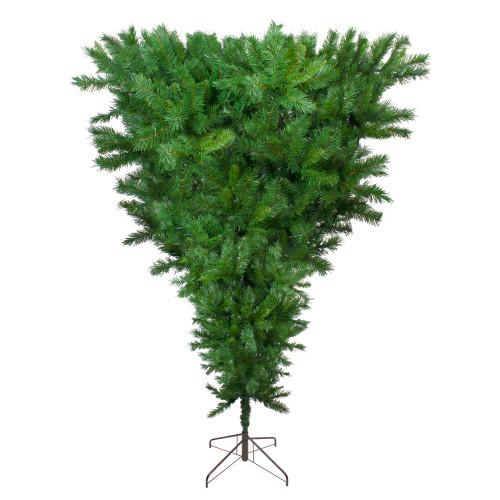 7.5' Green Sugar Pine Artificial Upside Down Christmas Tree - Unlit - IMAGE 1