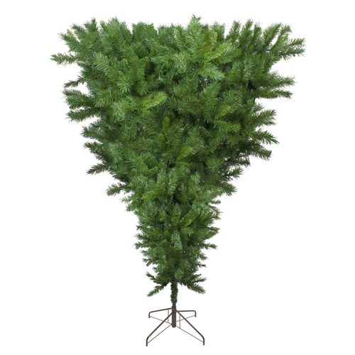 9' Sugar Pine Artificial Upside Down Christmas Tree - Unlit - IMAGE 1