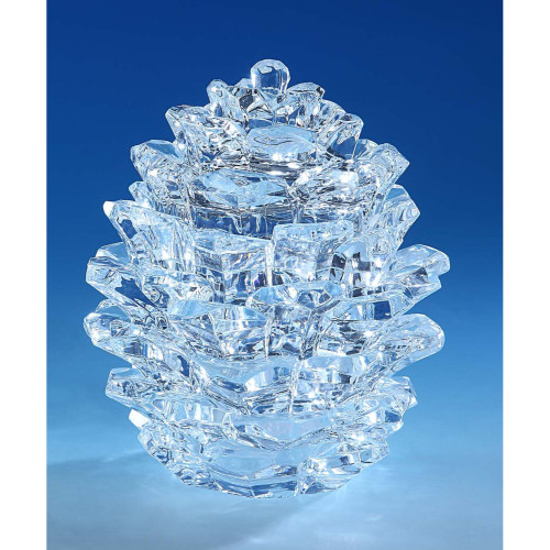 "Set of 2 Clear Medium Pinecone Candy Jar Tabletop Decor 6.25"" - IMAGE 1"