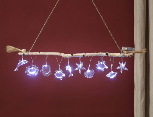 """Set of 2 Clear Contemporary LED Sea Creature String Light 2.75"""" - IMAGE 1"""