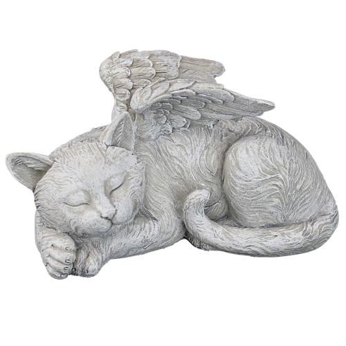"""5"""" Resting Cat Angel Outdoor Garden Statue - IMAGE 1"""