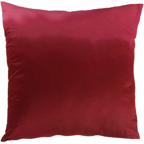 """18"""" Burgundy Red Contemporary Square Throw Pillow Cover - IMAGE 1"""