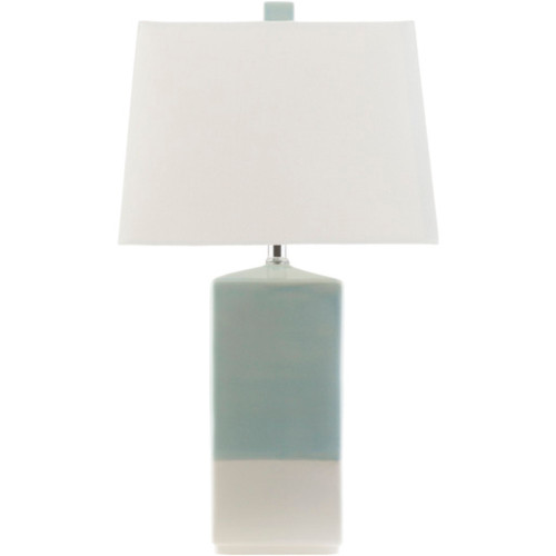"25.5"" Contemporary Linen Table Lamp with Ivory Modified Drum Shade - IMAGE 1"