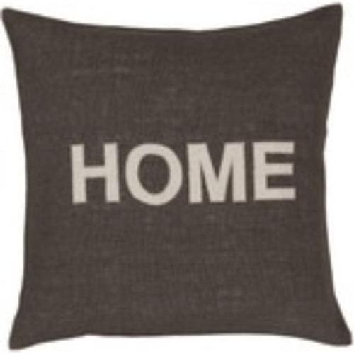 "22"" Brown and Beige Contemporary Square Throw Pillow Cover - IMAGE 1"