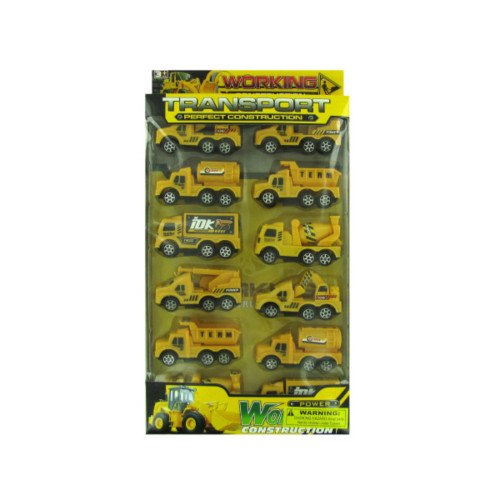 "Pack of 4 Yellow and Black Children's Construction 5-Piece Truck Toy Sets 14"" - IMAGE 1"