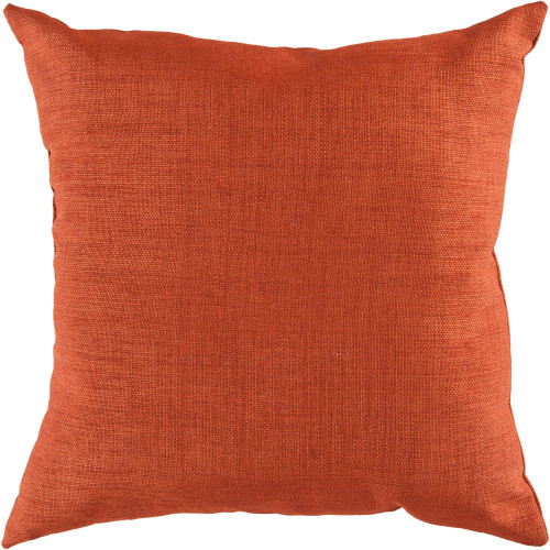"22"" Orange Solid Square Throw Pillow Cover with Knife Edge - IMAGE 1"