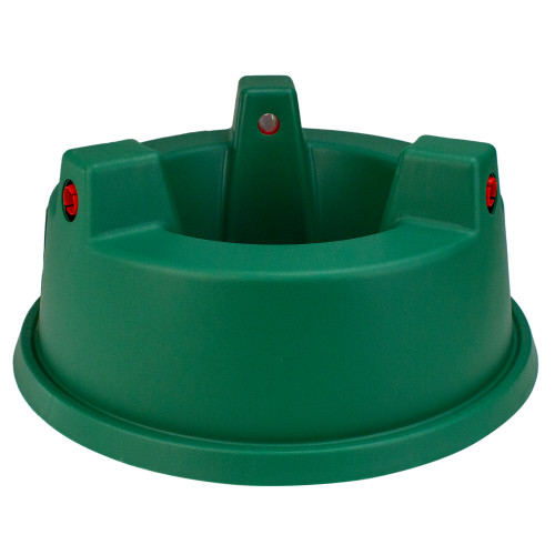 """13"""" Wide Mouth Green and Red Watering Christmas Tree Stand - Trees Up To 7ft - IMAGE 1"""