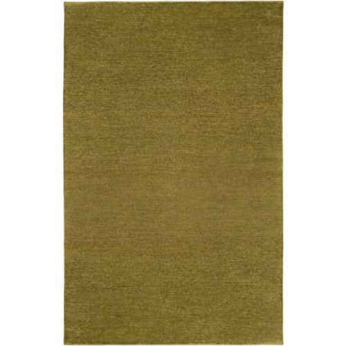 5' x 8' Solid Olive Green Rectangular Area Throw Rug - IMAGE 1