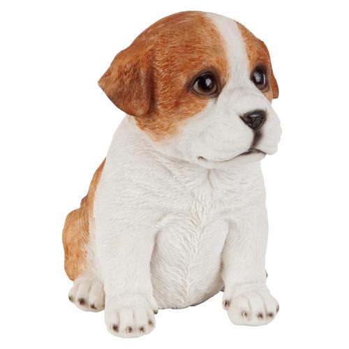 "6'"" Sitting Bulldog Puppy Dog Hand Painted Outdoor Garden Statue - IMAGE 1"