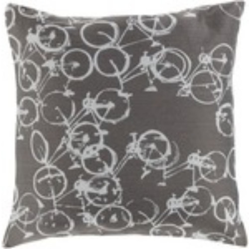 """18"""" Brown and Gray Contemporary Square Throw Pillow Cover - IMAGE 1"""