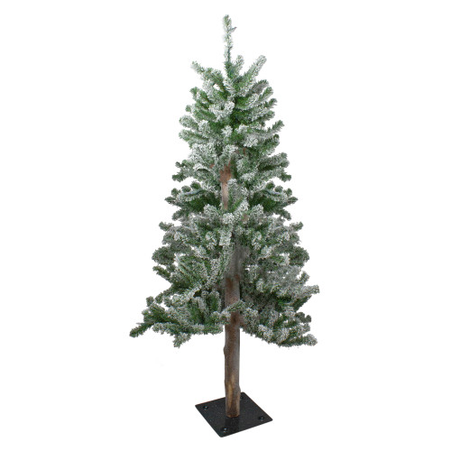 4' Flocked Alpine Artificial Christmas Tree - Unlit - IMAGE 1