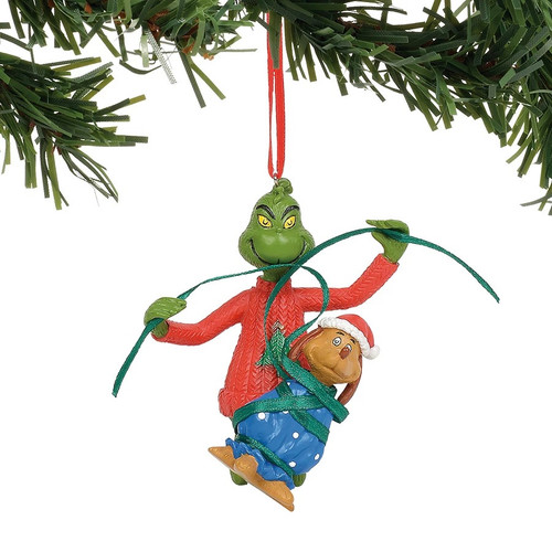 Department 56 Dr. Seuss Grinch Wrapping Max Christmas Tree Ornament #6011005 - IMAGE 1