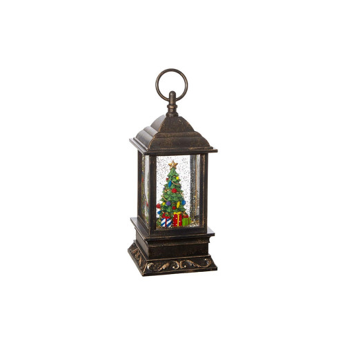 """9.5"""" Antique Finished Lighted Christmas Tree Water Table Top Decoration - IMAGE 1"""