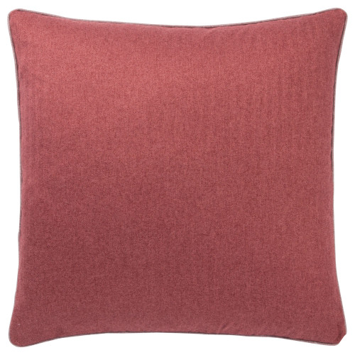 "22"" Red Solid Square Throw Pillow with Zipper Closure - IMAGE 1"