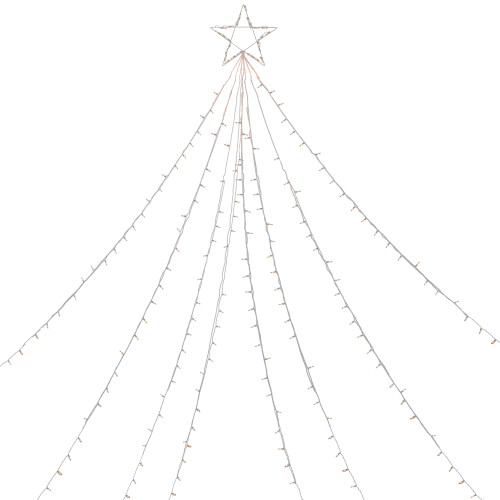 12' Clear Lighted Christmas Display Tree Outdoor Decor - IMAGE 1