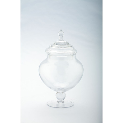 "9"" Clear Candy Dish Jar with Finial Lid - IMAGE 1"