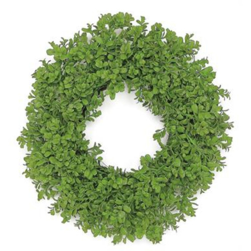 Fresh Boxwood Nature Inspired Artificial Spring Wreath, Green 24-Inch - IMAGE 1
