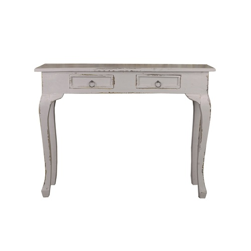 """39"""" Distressed Antique Gray Cottage Multi Functional Table with Drawers - IMAGE 1"""