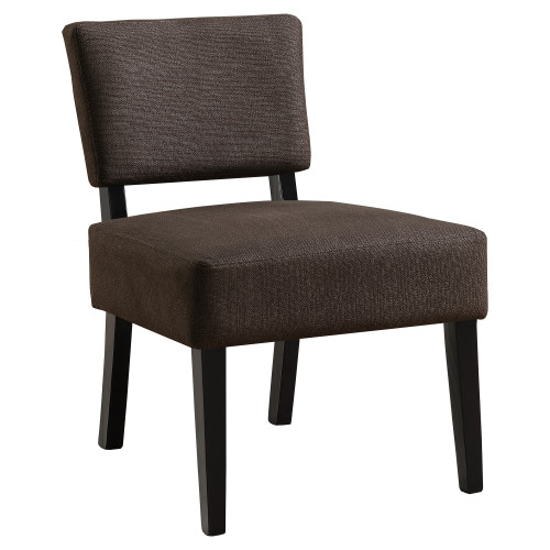 """31.5"""" Coffee Brown Contemporary Upholstered Armless Accent Chair - IMAGE 1"""