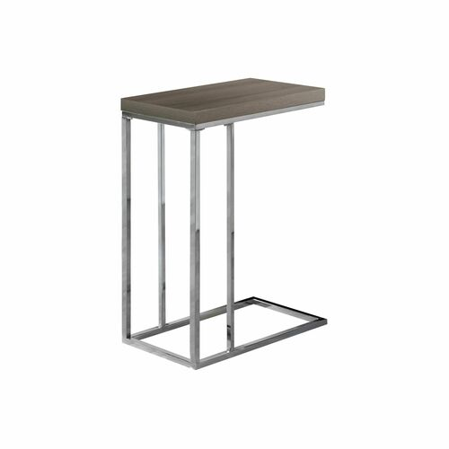 """25"""" Silver and Brown Contemporary Rectangular Accent Table - IMAGE 1"""