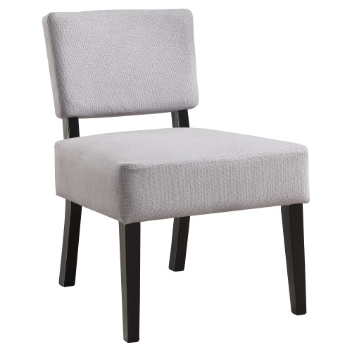 """31.5"""" Gray and Black Upholstered Contemporary Accent Armless Chair - IMAGE 1"""