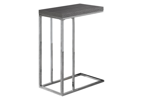 """25.25"""" Gray and Silver Contemporary Rectangular Accent Table - IMAGE 1"""