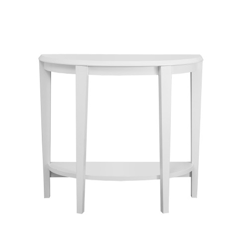 "36"" White Solid Accent Table with Sturdy Tapered Legs - IMAGE 1"