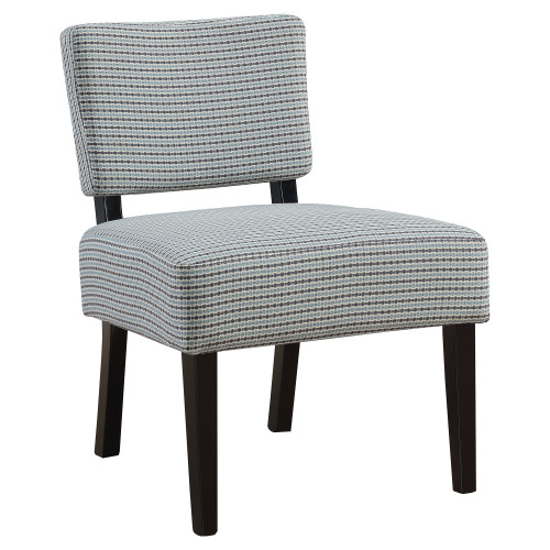 """31.5"""" Blue and Gray Upholstered Contemporary Accent Armless Chair - IMAGE 1"""