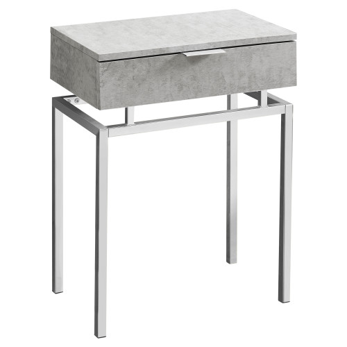 """23.25"""" Cement Gray Contemporary Rectangular Accent Table - IMAGE 1"""