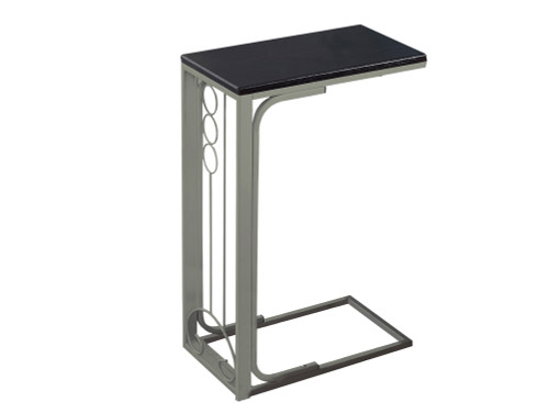 """24.5"""" Chocolate Brown and Gray Contemporary Rectangular Accent Table - IMAGE 1"""