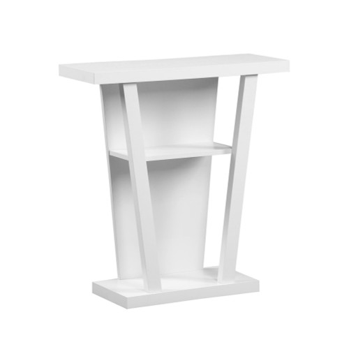 "33.75"" Cloud White Contemporary Hall Console Table Accent - IMAGE 1"