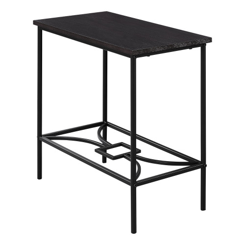 """23.75"""" Black Rectangular Contemporary Style Accent Table - IMAGE 1"""