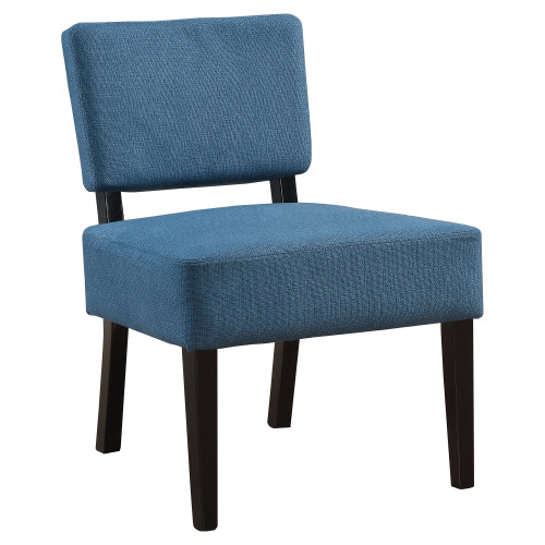 """31.5"""" Blue and Black Contemporary Upholstered Accent Chair - IMAGE 1"""