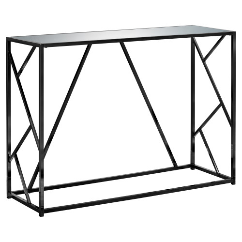 """44"""" Black Contemporary Rectangular Console Table Accent - IMAGE 1"""
