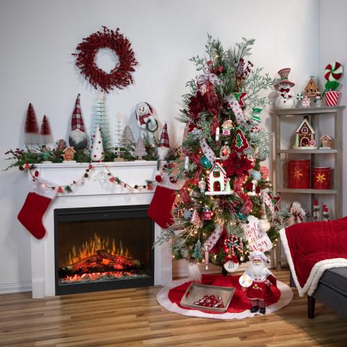 18 Red Velvet Poinsettia Artificial Christmas Stem Christmas Central