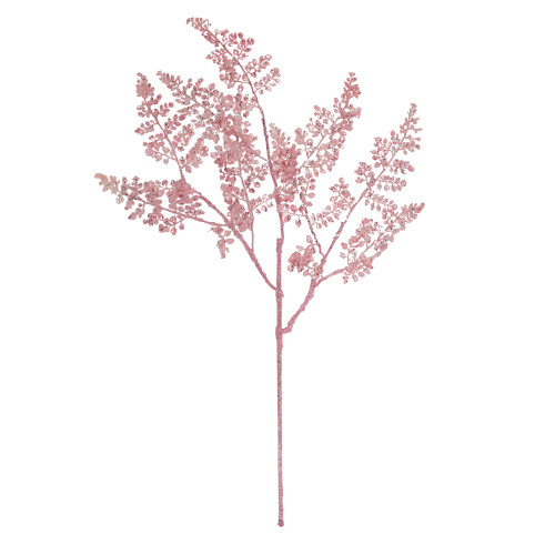 "33"" Pink Glitter Fern Artificial Christmas Spray - IMAGE 1"