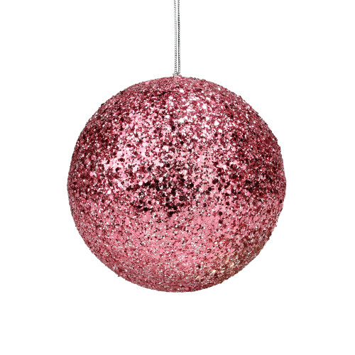 "5.75"" Pink Sequin Ball Christmas Ornament - IMAGE 1"