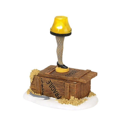 Department 56 A Christmas Story Village Lit Leg Lamp Figurine #4057258 - IMAGE 1
