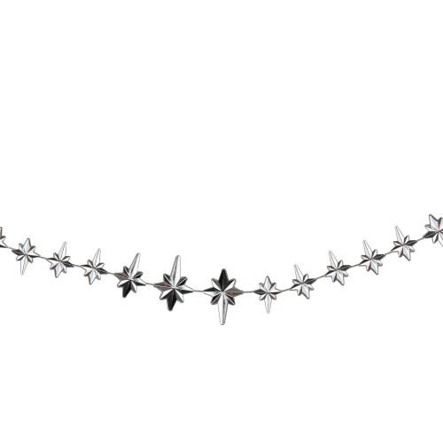 "9' x 1"" Shiny Star of Bethlehem Beaded Artificial Christmas Garland - Unlit - IMAGE 1"