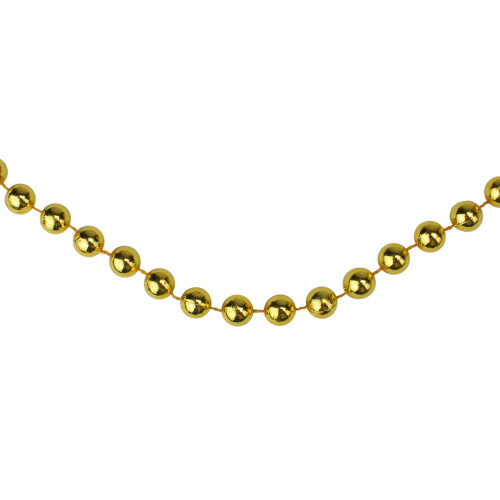 33' Shiny Gold Round Beaded Christmas Garland - IMAGE 1