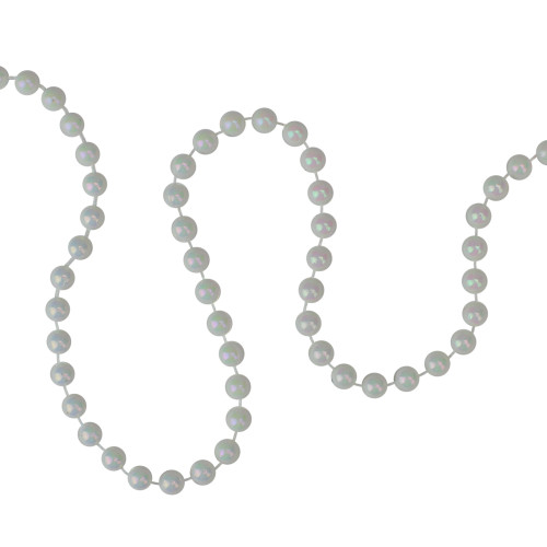 """15' x 0.25"""" White Pearl Beaded Artificial Christmas Garland - IMAGE 1"""