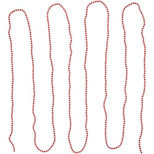 "15' x 0.25"" Shiny Crimson Red Beaded Artificial Christmas Garland - Unlit - IMAGE 1"