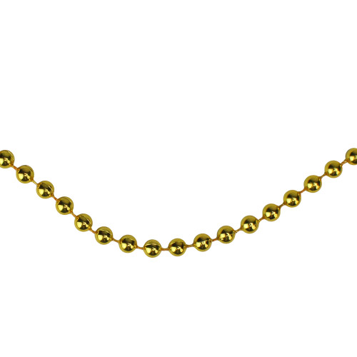 """15' x 0.25"""" Shiny Celestial Gold Beaded Artificial Christmas Garland - Unlit - IMAGE 1"""