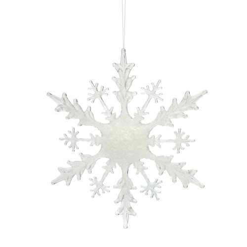 "6.25"" Clear Snowflake Hanging Christmas Ornament - IMAGE 1"
