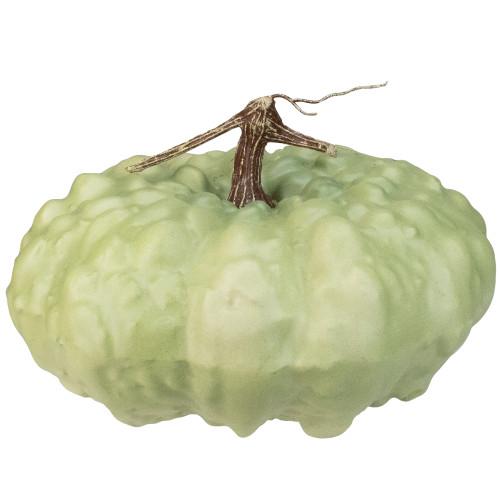 "6.5"" White Textured Pumpkin Fall Halloween Statue - IMAGE 1"